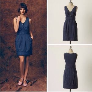 Anthropologie Maeve Fifth Form Striped Dress